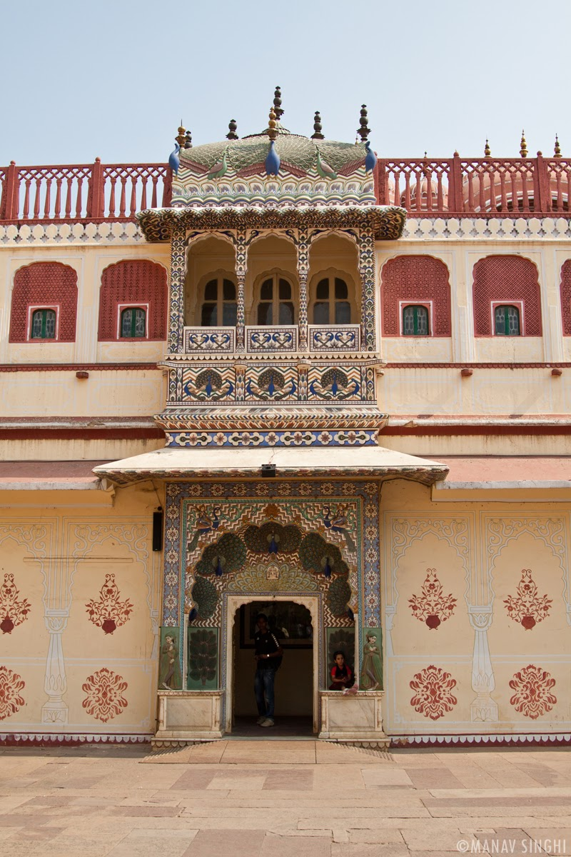 Peacock Gate at The City Palace, Jaipur.