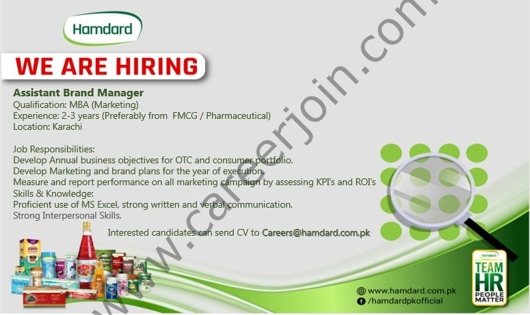 careers@hamdard.com.pk - Hamdard Pakistan Jobs 2021 in Pakistan