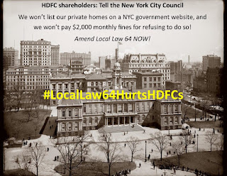 Anti HDFC Shareholder Law - Stop Local Law 64
