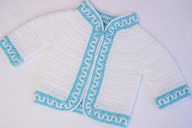 1 -Crochet Imagen Chaqueta a crochet ribeteada con puntada mosaico por Majovel Crochet