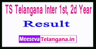 TS Telangana Inter 1st, 2d Year Results 2017