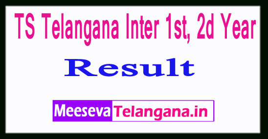 TS Telangana Inter 1st, 2d Year Results 2019