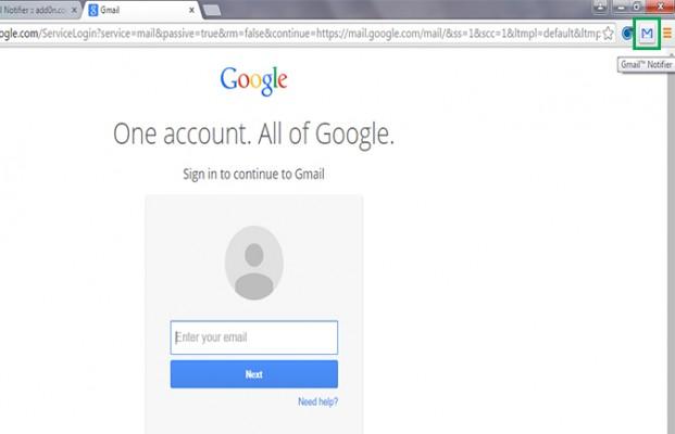 login akun google untuk mendapatkan pemberiantahuan ektensi Gmail