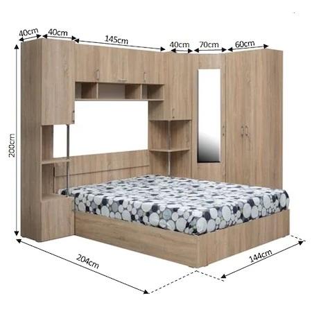 Комплект мебели за спалня Kring Yasmine + Кош за пране Heinner Care