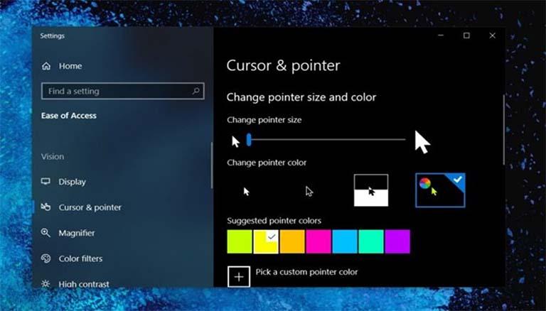 Windows 10 v1903 Menambah Pengaturan Baru Untuk Pointer Mouse