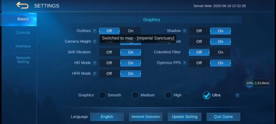 Vivo V19 Neo Mobile Legends Ultra Graphics
