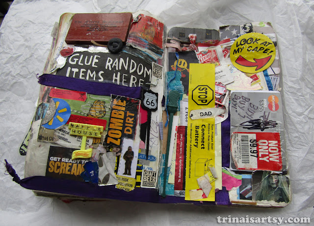 Wreck this Journal - Glue random items here