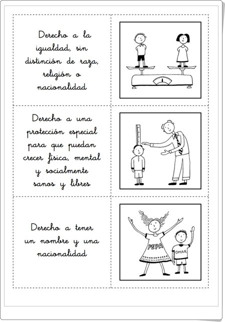 Día de los Derechos del Niño, 20 de noviembre Fichas de trabajo para Educación Primaria