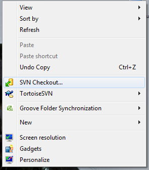 how to download the svn files in windows system or linux systems