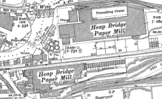 Heap Bridge Paper Mills, OS map, 1928.