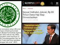 Jokowi Investasikan Dana Haji, MUI: Tidak Halal! Itu Melanggar Hak Umat