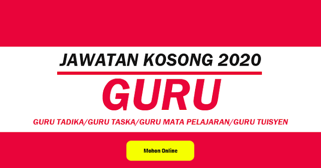 jawatan kosong cikgu 2020