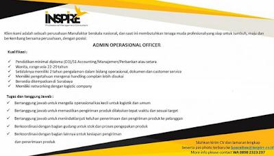 Rekrutmen Lowongan Kerja Terbaru D3 dan S1 Surabaya November 2019