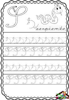 letra cursiva para niños descargar