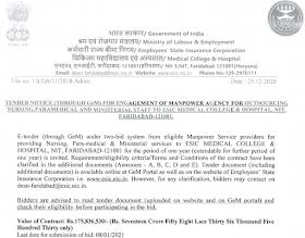 ESIC Hospital vacancy  Faridabad Recruitment 2020-2021