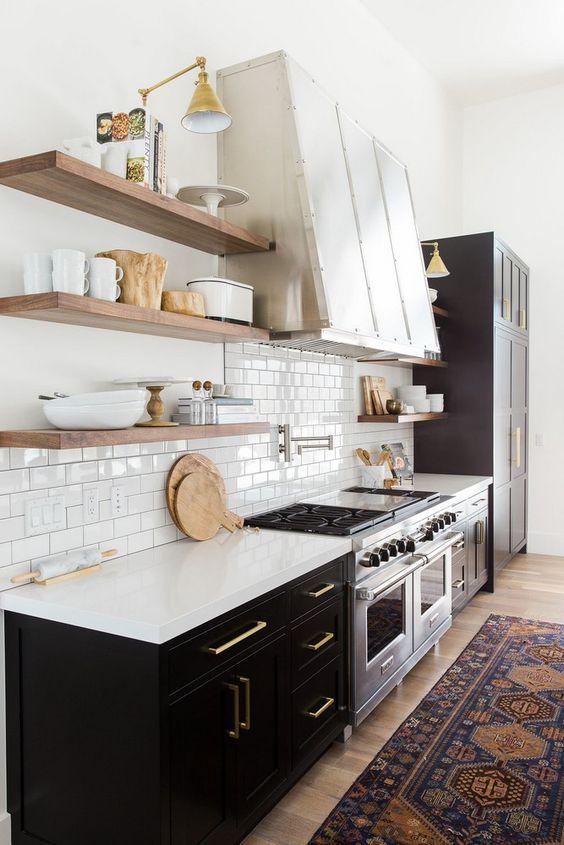 30 idéias lindas de Prateleiras para cozinha