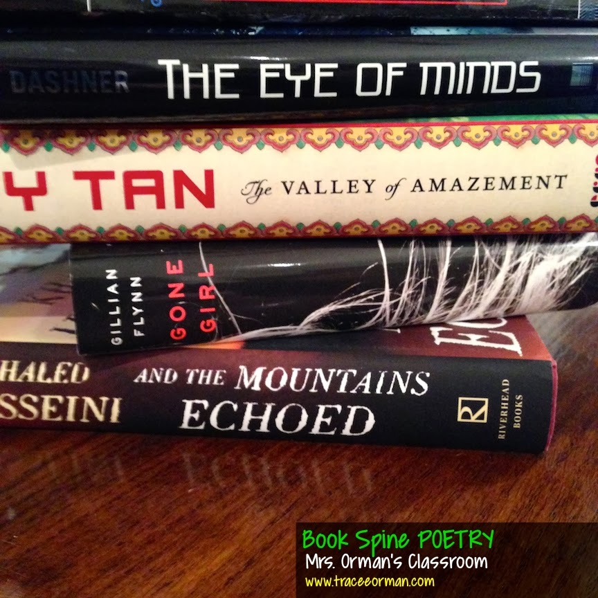 Book spine poetry activities from Mrs. Orman's Classroom