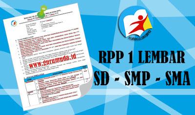 RPP 1 LEMBAR SD KELAS 1