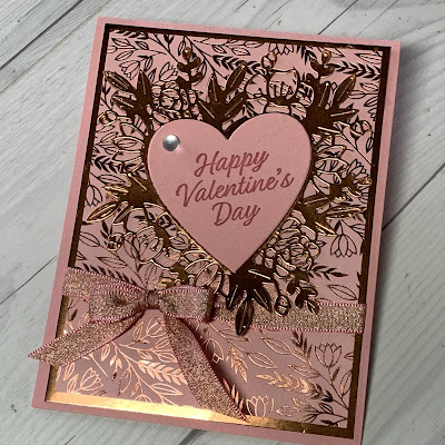 Handmade Valentine with Copper Heart from the Always In My Heart Bundle from Stampin' Up!