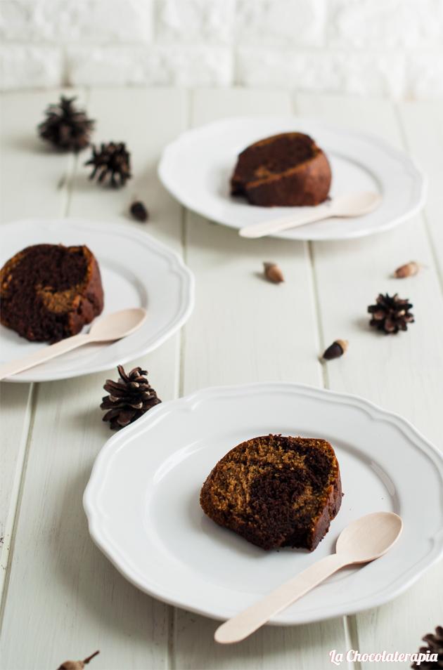 Bundt Cake marmolado de chocolate y calabaza