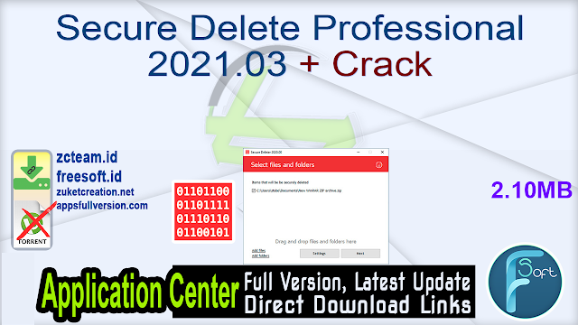 Secure Delete Professional 2021.03 + Crack_ ZcTeam.id