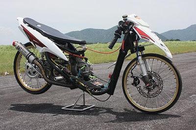 modifikasi mio drag race