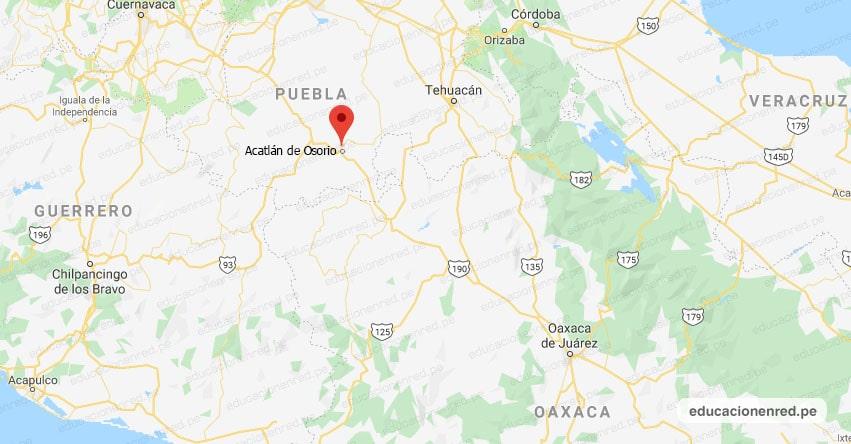 Terremoto en México de Magnitud 7.2 (SIMULACRO NACIONAL 2021 Hoy Domingo 19 Septiembre) Sismo - Temblor - Epicentro - Acatlán de Osorio - Puebla - PUE. - SSN - www.ssn.unam.mx