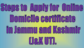 Learn step by step how to apply for online domicile j&k, jkmedia