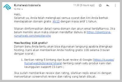 Cara Mendapatkan Domain Gratis Dari Rumah Web