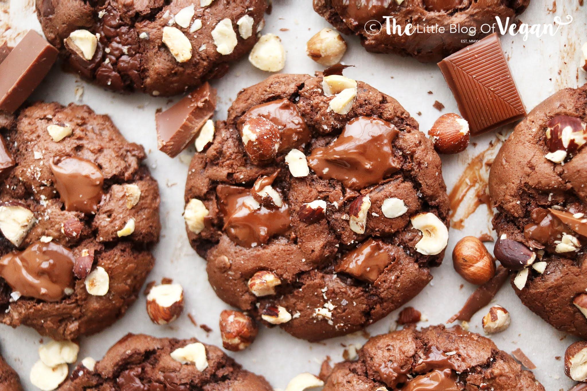 Vegan Chocolate Hazelnut Cookies