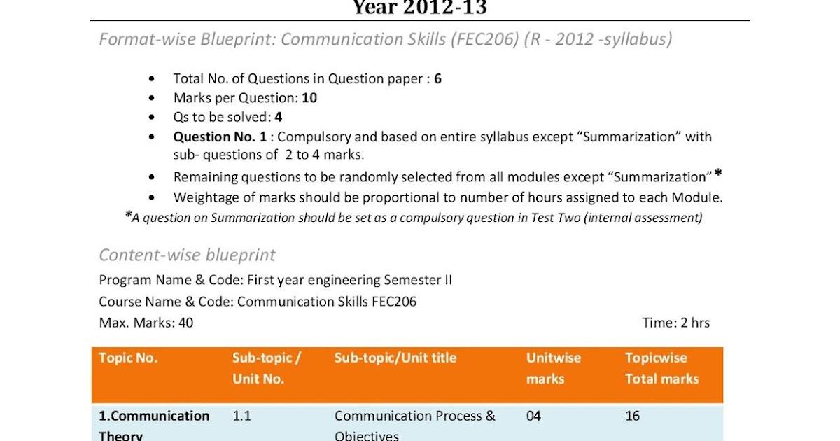 Engineeringlovesme communication skills blue print mumbai university malvernweather Images