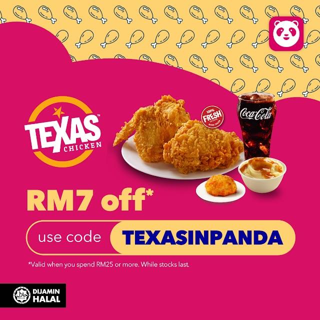 TEXAS CHICKEN'S JOINS FOODPANDA MALAYSIA LIST OF VENDORS
