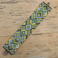 Купить яркий этнический браслет из бисера