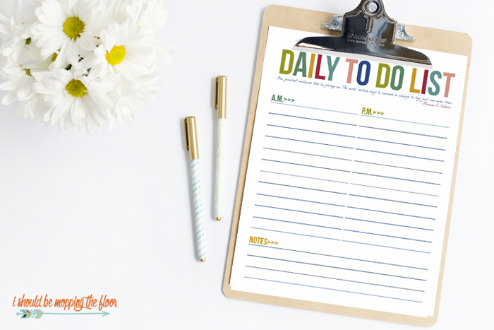 To Do List Printables for Organizing