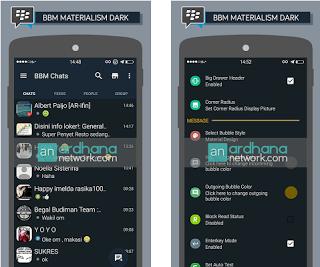 BBM MOD Materialism Dark versi 2.12.0.11 APK