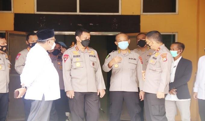 Kapolda Banten Tinjau Persiapan Serbuan Vaksinasi di Kampus UIN Banten