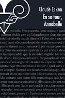 Claude Ecken En sa tour, Annabelle Le Bélial' monde tous droits reserves