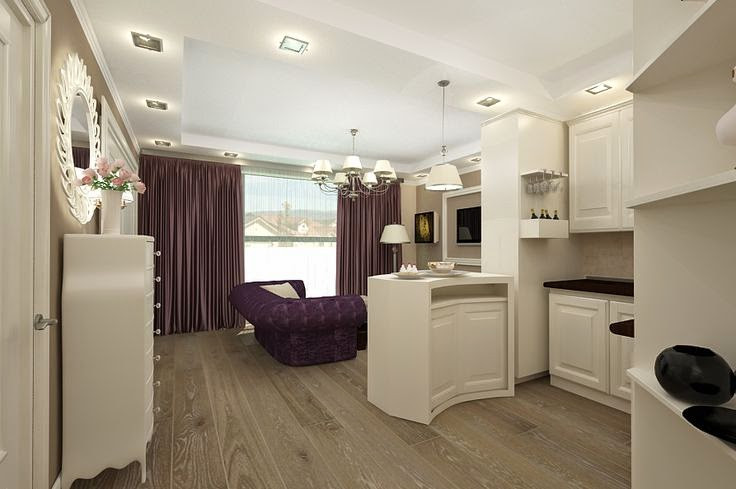design interior living cu bucatarie