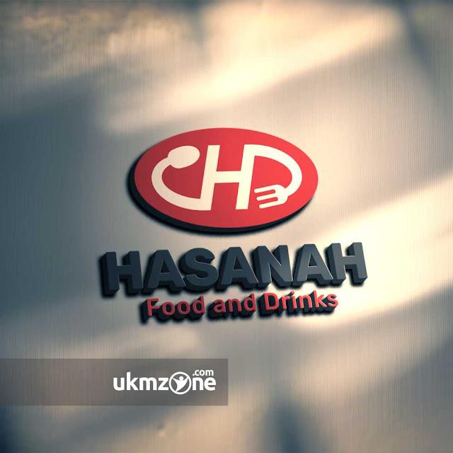 Desain logo untuk kantin rumah makan usaha UMKM UKM kuliner Hasanah Food