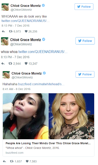 Chloe Grace Moretz Reacts To Photos Of Her Filipina Doppelganger!
