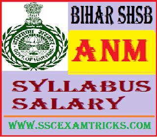 Bihar SHSB ANM Salary Syllabus