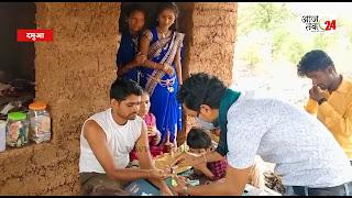 राष्ट्रीय हिंदू सेना द्वारा ग्रामीणों के बीच में जाकर जंगली लहसुन का तेल वितरित किया