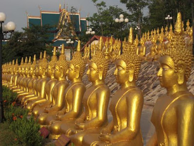 The Amazing Gold Buddha Temple in Laos