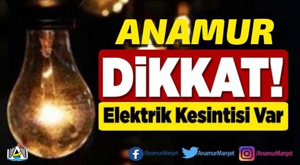 Anamur Haber, Anamur Son Dakika, Anamur elektrik kesintisi,