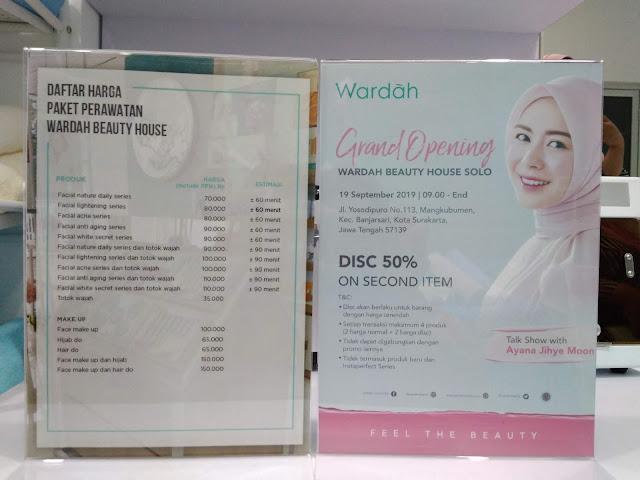 Daftar Biaya Perawatan dan Make Up di Wardah Beauty House Solo