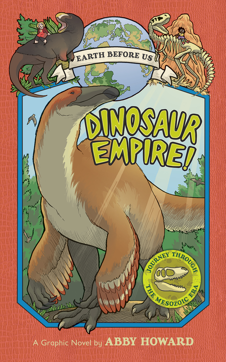 Cover art for Abby Howard's 'Dinosaur Empire' book