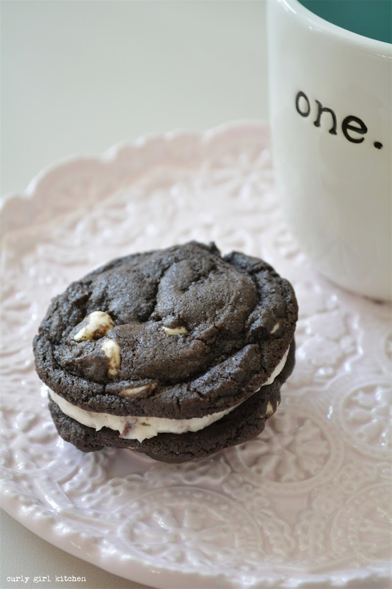 Chocolate White Chocolate Sandwich Cookies