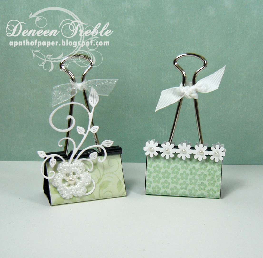 A Path Of Paper Craft Show Binder Clips