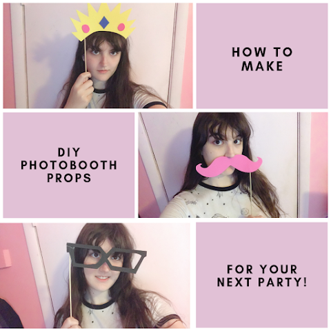How to Make DIY Photobooth Props for Your Next Party! 3 Easy and Fun Projects!