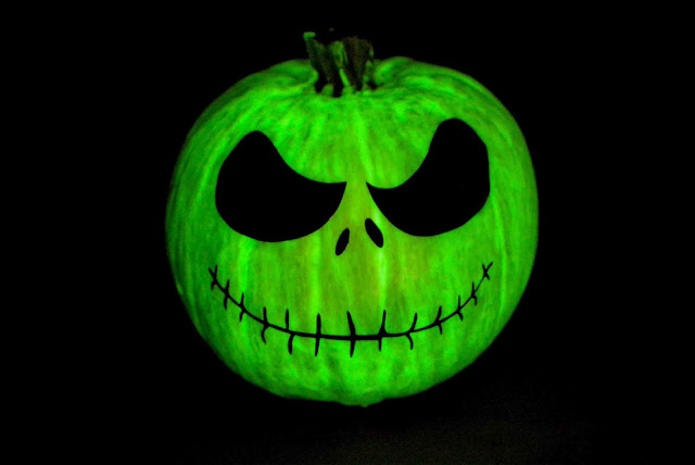 Glow in the Dark Jack Skellington Pumpkin